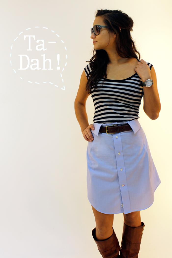 Shirt to Skirt -LOVE Collar as the waistband. | God does ...