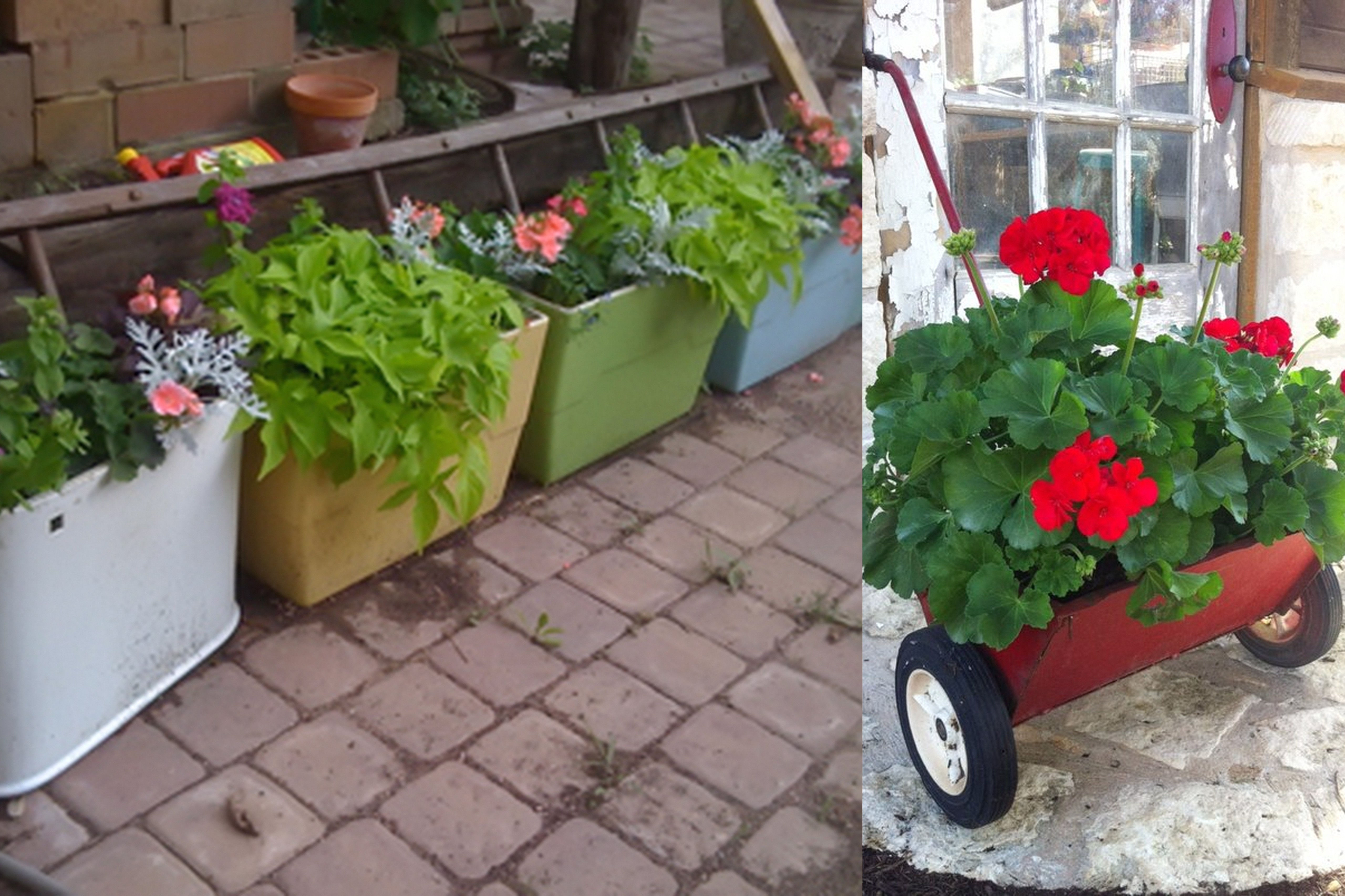 Recycled stuff for the garden god does reassemble for Recycling ideas for your garden